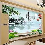 Tantoto 3D Wallpaper Große Wandgemälde, Landschaftsbilder, Erinnerungen An Jiangnan Schlafzimmer, Moderne Chinesische Tv-Wand, Tapete, Tapete.