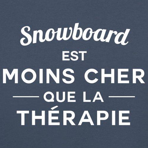 Snowboard est moins cher que la thérapie - Femme T-Shirt - 14 couleur Bleu Marine