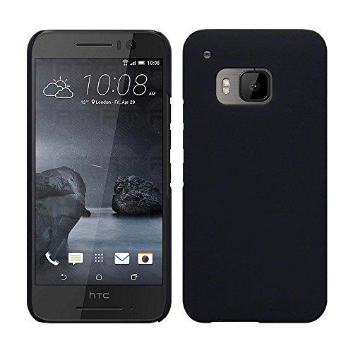 HTC One S9 - Rubber Schutzhülle Gummiert Hybrid Hard Case Schutz Cover Etui Hülle Tasche in Schwarz - RT-Trading