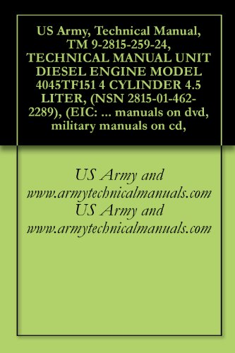 US Army, Technical Manual, TM 9-2815-259-24, TECHNICAL MANUAL UNIT DIESEL ENGINE MODEL 4045TF151 4 CYLINDER 4.5 LITER, (NSN 2815-01-462-2289), (EIC: N/A), ... military manuals on cd, (English Edition) - Diesel Manual