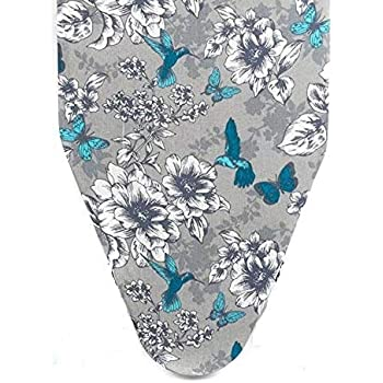 Homespace Grey Flower Design Cover with Extra Thick Foam and Felt Padding(Length 122-124cm X Width 38-40cm)