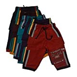 #9: Multi color pure cotton half phant combo pack of 5 piecesB01CU2ZDFM