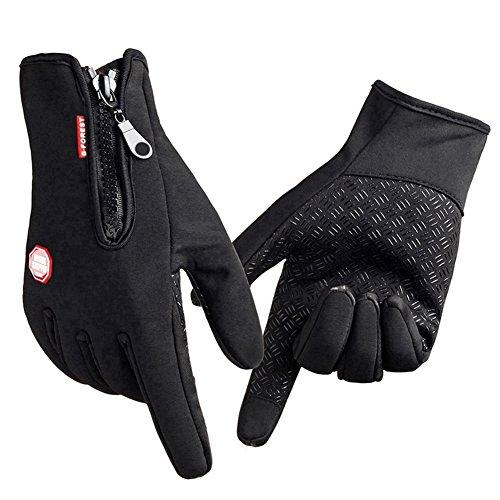 Touchscreen Winter Fahrrad handschuhe, Goldore Camping Outdoor Handschuhe, Herren und Damen (Schwarz-XL)