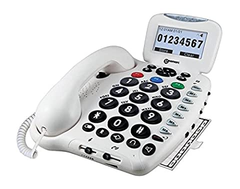 Geemarc CL555- Amplified Big Button Telephone with Talking Functions and Answering Machine- UK