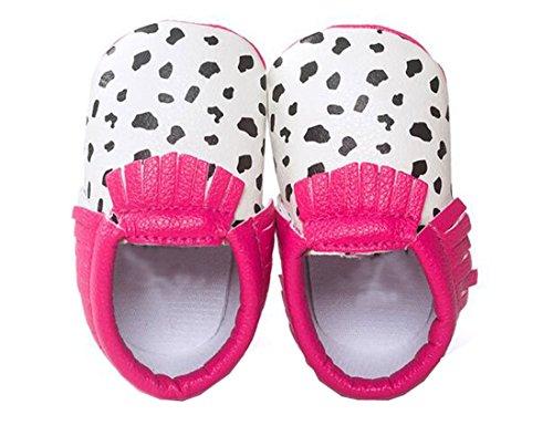 13cm Borla Bebê Star Lucky 2 Únicos Couro Suaves ® Bebê 2 Rosa Sapatos De De Yuan Sapatos Bonito wgx6x1Cq