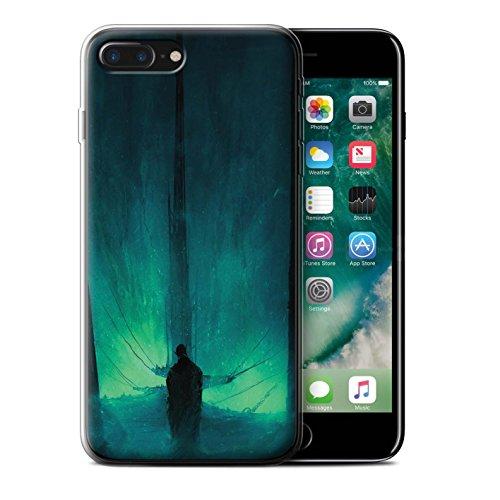 Offiziell Chris Cold Hülle / Gel TPU Case für Apple iPhone 7 Plus / Der Anrufer Muster / Dunkle Kunst Dämon Kollektion Bösen Herzens