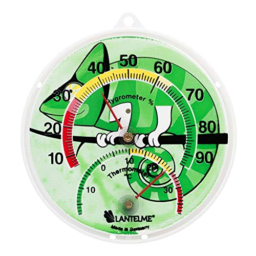 Lantelme Terrarium Reptilien Terrarien Kombi Thermometer Hygrometer Temperatur Luftfeuchte Analog Bimetall 6137
