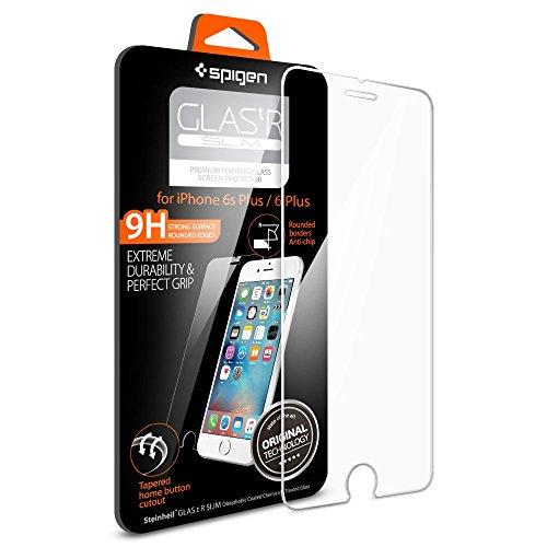 Pellicola Vetro Temperato iPhone 6s Plus / 6 Plus Spigen® **Easy-Install Kit** [Anti-riflesso Ultra-Clear] Ultra resistente in Pellicola vetro temperato iPhone 6 Plus / 6s Plus, Pellicola Protettiva iPhone 6s Plus / 6 Plus SGP11634