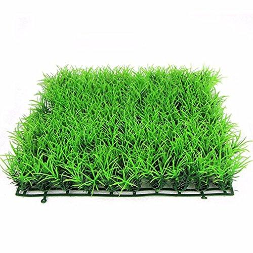 Livecity pianta artificiale acquatiche acqua verde erba prato acquario Fish Tank paesaggio