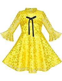 1f365aeefb70 Amazon.co.uk  Yellow - Dresses   Girls  Clothing