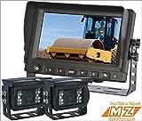 Digital Cameras Best Deals - 7pulgadas Digital de copia de seguridad de visión trasera inversa 2-camera sistema Kit para la agricultura granja Tractor cabina CCTV