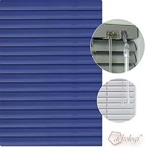 Jalousie store vénitien en aluminium 60 x 240 cm (largeur x hauteur) - 1517 lamellenfarbe bleu foncé/bleu nuit simon store plissé en aluminium stores vénitiens