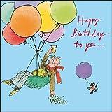 Carte de vœux d'anniversaire (wdm9321) mâle–Quentin Blake–Homme en parachute Ballon