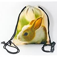 6c8b3a88e8 Premium Bunny 3d Print Hipster Stringbag Custodia Sacca Iuta Sacchetto lo  sport Gym Bag cordino Sacco