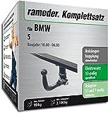 Rameder Komplettsatz, Anhängerkupplung Abnehmbar + 13pol Elektrik für BMW 5 (142640-01449-1)