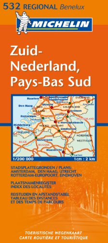 Michelin Map Netherlands: South 532 (KAARTEN/CARTES MICHELIN) par Michelin
