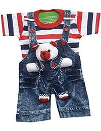 0fc6bddf6e96b BabyMart Baby Boys Baby Girls Party Wear Casual Wear Printed Applique Hight  Quality Printed Half Sleeves Denim…