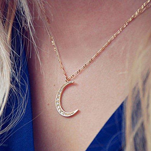 Yean Collier avec pendentif Lune pour les femmes et les filles