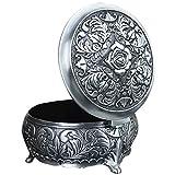 Unendlich U Rund Rose Gravur Damen Antiken Silbern Metalllegierung Schmuckkasten
