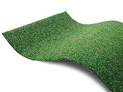 Premium Rasenteppich für Balkon Meterware GREEN - Grün, 2,00m x 3,00m, Pool-Unterlage Poolmatte, Vlies-Rasenteppich mit Noppen, Balkon Bodenbelag, Outdoor Teppich