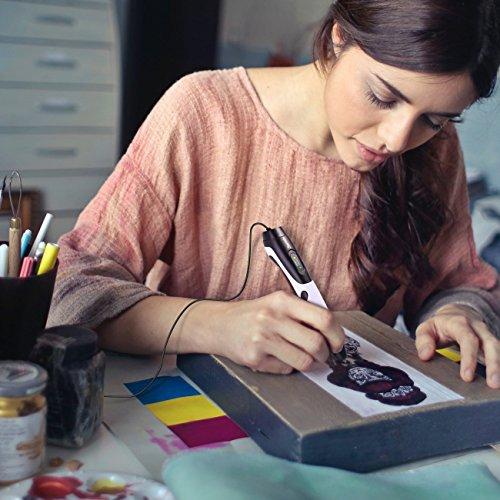 3D Stifte,Jiamus 3D Druck Stifte Set für Kinder mit LCD-Display kompatibel mit PLA ABS-Modus Optionen, Set mit 16 Farben 160 Fuß 1,75 mm Filament Minen und Erwachsene - 6