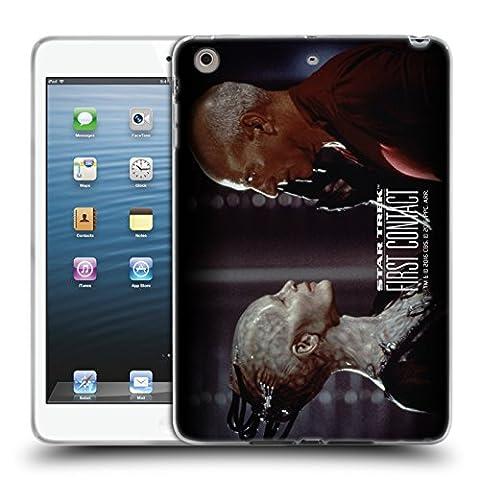 Officiel Star Trek Confronte Picard Le Borg Contacte D'abord TNG Étui Coque en Gel molle pour Apple iPad mini 1 / 2 /