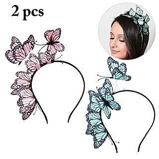 Aniwon 2 STÜCKE Haarband Elegante Schmetterling Dekor Haarbänder Haar Styling Zubehör