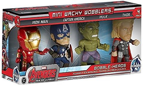 Marvel Avengers Age Of Ultron - 4Piece Bobble-Head Box (Inc. Iron Man, Captain America, Hulk & Thor)