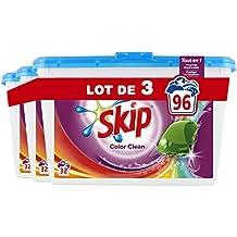 Skip Lessive Capsules Color Clean 96 Lavages (Lot de 3x32 Lavages)
