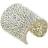 Adreani Gioielli manicotto Lucite-Perspex trasparente tempestato con pietre in cristallo di swarovski misura media