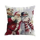 Dragon868 Kissenbezug Weihnachts Druck Färbung Sofa-Bett zu Hause Dekor Kissen Cover,45cmX45cm