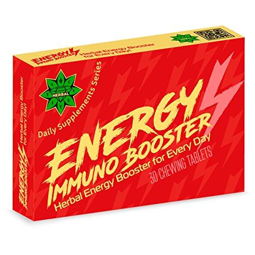 Energy Immuno Booster - 30 Kautabletten | Hochfest | Antioxidationsmittel | Energie & Immune Boost | Gluten-frei