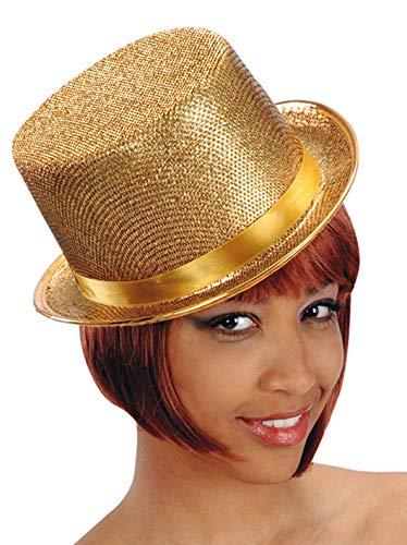 Carnival T. Goldener Zylinder aus Filz mit Klingen? Gold Chorus - Chorus Line Kostüm