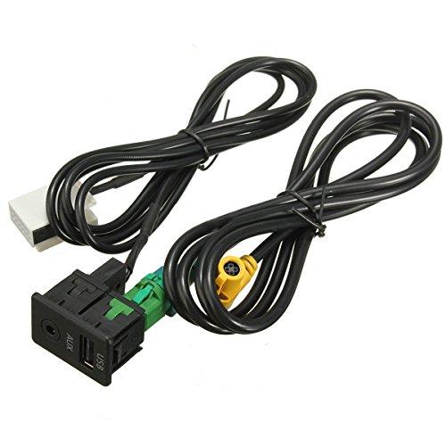 SODIAL(R) 60733 Schalter & USB-Draht Kabel Adapter USB Aux Schalter & USB-Draht Kabel Adapter Schwarz - Amp-adapter-kabel