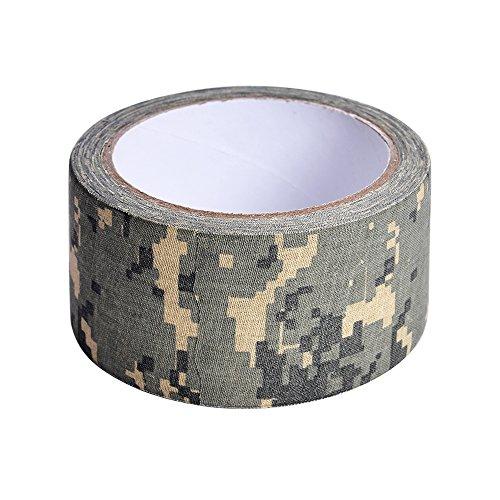 Zhi Jin 1Roll camuflaje gamuza de cinta americana de adhesivo cintas de camuflaje para caza al aire libre formación protectora 50mm x 10.9yd, color Digital