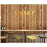 Papeles Pintados Chinos Retro Hotel De Imitación Madera Papel Pintado Madera Impermeable De PVC 3D Del Grano,Lightcoffee-OneSize