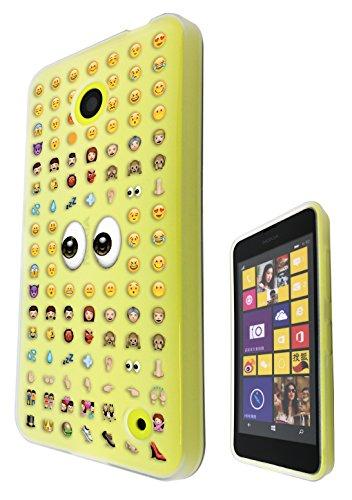 c0113 Smiley Faces emoji-Cool Funky Design Nokia Nokia Lumia 530 Handyschale, Rückseitenschutz, Gummi, Silikon, Gel, Cover Case