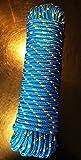 Nr.10 Blaues Polypropylen Seil, Polypropylenseil 10 mm x 30 m, Bootsleine,Ankerleine,Festmacher,Allzweckseil, Segeltauwerk, Mehrzweckseil, Bootstau, Strick, Ersatzseil