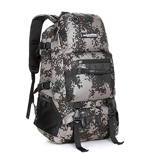 Interne Rucksack Frame Abdeckung (HUAN Wandern Rucksack Leichte Camping Trekking Rucksack Interne Frame Pack Für Outdoor Sports Reisen Backpacking Klettern Berg Camouflage Camo (Color : Green Camo))