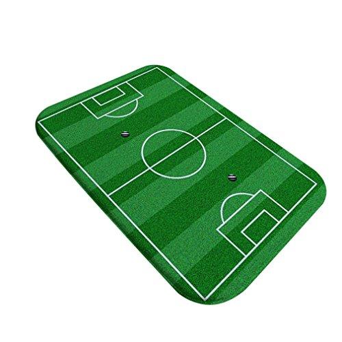 Jaminy 42 x 32 cm Football Venue Pad Porte de salle de bain Tapis antidérapant Shaggy Zone Chambre à coucher Tapis Tapis de sol