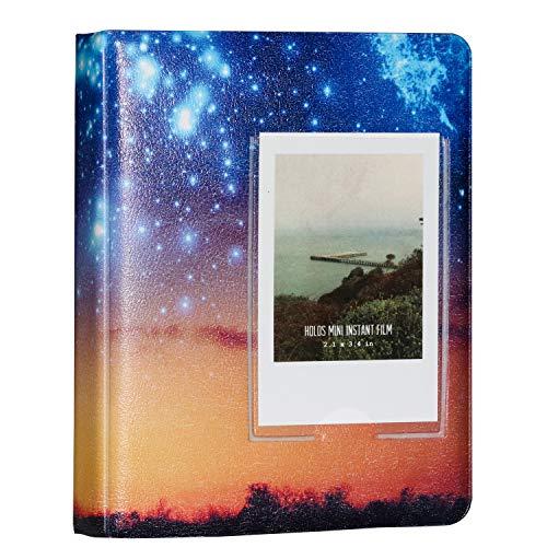 Brappo 64 Pockets Instax Mini-Fotoalbum für Fujifilm Instax Mini 7s 8 8+ 9 25 70 90 / Polaroid PIC-300P / Polaroid Z2300 Film mit bunten Aufklebern (Farbe 2)