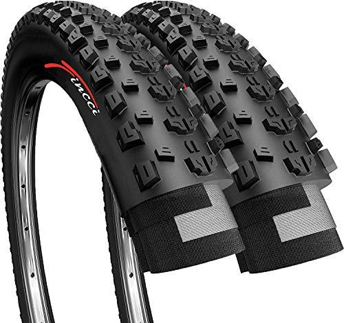 Fincci Paire 27,5 x 2,10 Pouces 54-584 Pliable Pneus pour VTT Montagne Fuoristrada Vélo Bicyclette (Un Paquet de 2)