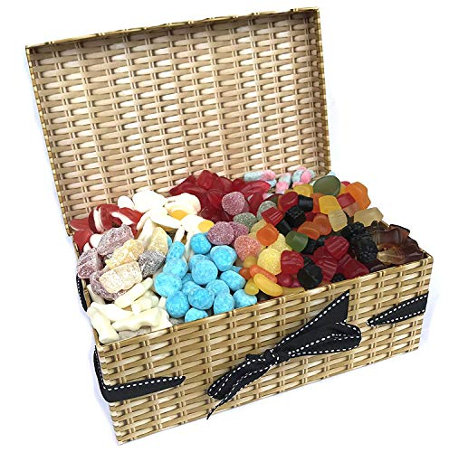 Retro Sweet Hamper - 1.2KG Sweet Box Full of All Time Favourites - Wine Gums, Bonbons, Cola Bottles, Fried Eggs