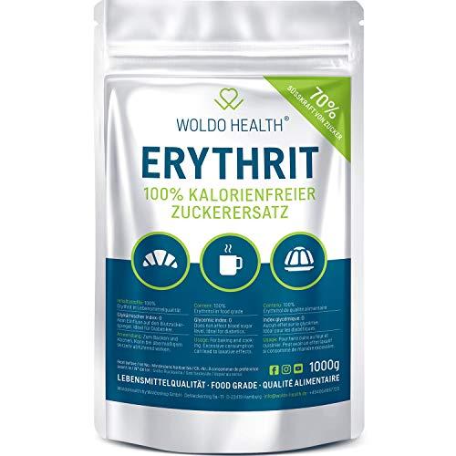 Erythrit 1kg Zuckerersatz ohne Kalorien vegan & glutenfrei mit 70{0c8f9d2d836f97a7d42fbff9dd0652405d541e344084362f23a9d6a798b645d3} der Süßkraft von Zucker