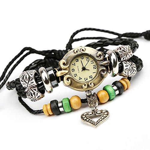 Hamilton Abdeckung (Punk Uhr, Quarzuhren , Armbanduhr,Art und Weise, beiläufig, Ethno-Stil, Leder, W0312)