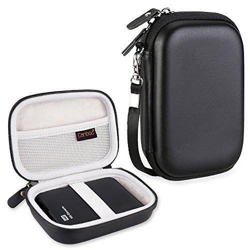 canboc EVA Stoßfest, der Fall für WD My Passport, WD Elements/Seagate Expansion, Seagate Backup Plus Slim 1TB 2TB 3TB 4TB USB 3.0externe Festplatte (tragbar Tasche für Box Tasche schwarz (Wd 2tb Passport-fall)