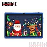 Haehne 7 Pouces Tablette Tactile, Android 9.0 certifié par Google GMS, 1Go RAM 16Go ROM Quad Core Tablet PC, 1024*600 HD, Double Caméras, WiFi, Bluetooth, pour Enfants & Adultes, Bleu