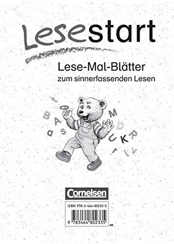 Lesestart - Östliche Bundesländer und Berlin / Lese-Mal-Blätter,
