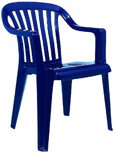 Best 18080520 Memphis Fauteuil empilable Bleu