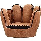 YIBEN Sofá, sillones para niños, sofá de los niños en Forma de Guante de béisbol, Dedos Estilo del niño de los niños Silla butaca Muebles de la TV microgamuza Salón del Asiento Infantil
